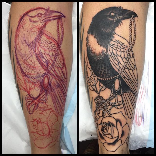 Started this free hand raven today @lighthouse_tattoo FOR BOOKINGS... w: lighthousetattoo.com.au e: contact@lighthousetattoo.com.au ph: (+61 2) 9316 4565