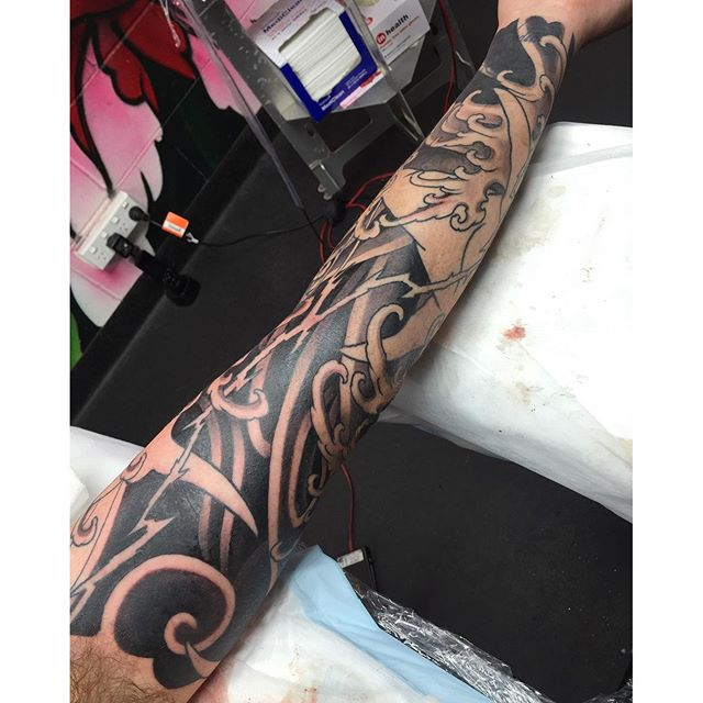 Inner arm section of a sleeve in progress @lighthouse_tattoo FOR BOOKINGS... w: lighthousetattoo.com.au e: contact@lighthousetattoo.com.au ph: (+61 2) 9316 4565