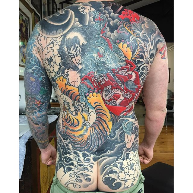 This back piece is nearly there. Really happy with how this is turning out. There's two cover-ups involved here too. @lighthouse_tattoo FOR BOOKINGS... w: lighthousetattoo.com.au e: contact@lighthousetattoo.com.au ph: (+61 2) 9316 4565