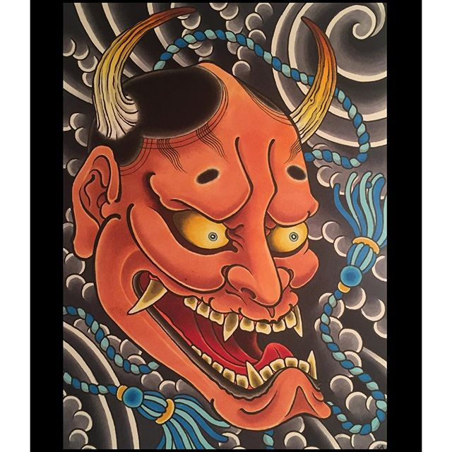 Congratulations to @fabio_gargiulo and South Ink's 10 year anniversary. Here's my contribution to the Hannya Brigade.