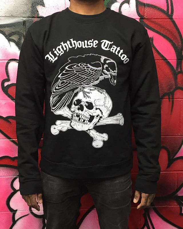 We have these crew neck jumpers in stock again. $AU60 + $AU9 postage. This is the last run of this design that we'll be doing as crew necks. Get in touch via the email below to grab one. FOR BOOKINGS... w: lighthousetattoo.com.au e: contact@lighthousetattoo.com.au ph: (+61 2) 9316 4565