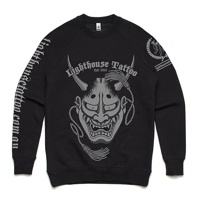New Lighthouse Tattoo crew neck jumpers are in the shop now. Available in sizes M - XL AU$60 + postage. Send sales enquiries to the email below... FOR BOOKINGS w: lighthousetattoo.com.au : contact@lighthousetattoo.com.au ️: (+61 2) 9316 4565