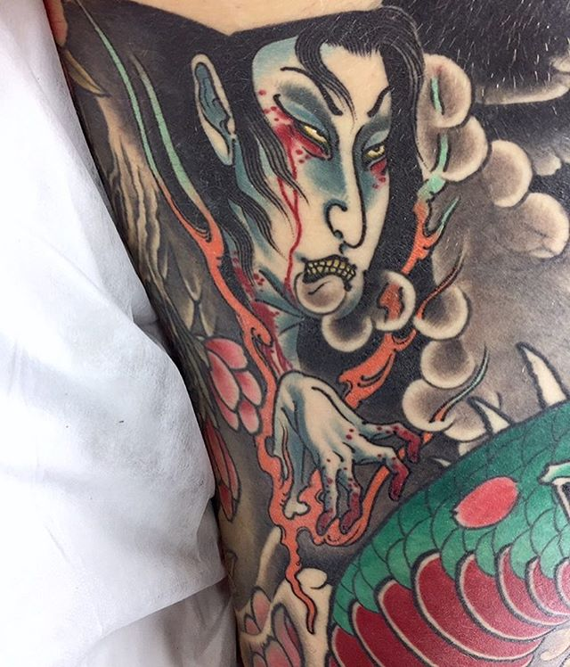 Got a healed shot of this yūrei gap filler in the ribs  @lighthouse_tattoo  FOR BOOKINGS w: lighthousetattoo.com.au : contact@lighthousetattoo.com.au ️: (+61 2) 9316 4565